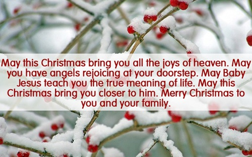 angels rejoicing christmas wishes