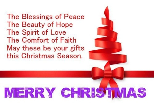 blessings and beauty christmas wishes
