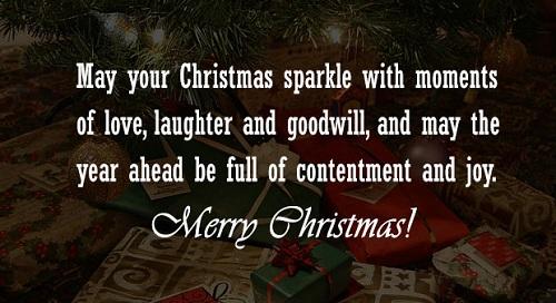 christmas sparkle christmas wishes