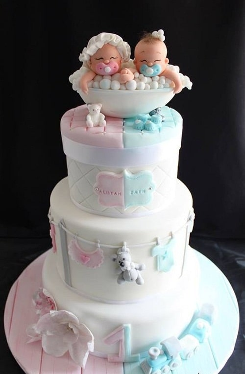 Christening Cake Designs For Twins : 33 Unique Christening Cake Ideas with Images - My Happy ...