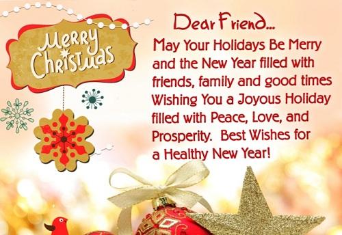dear friend christmas wishes