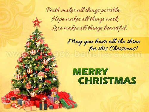 faith hope love christmas wishes