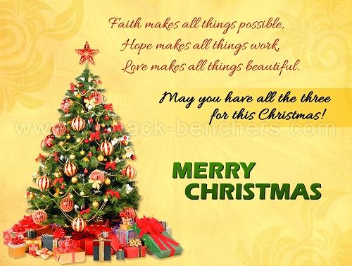 faith hope love christmas wishes