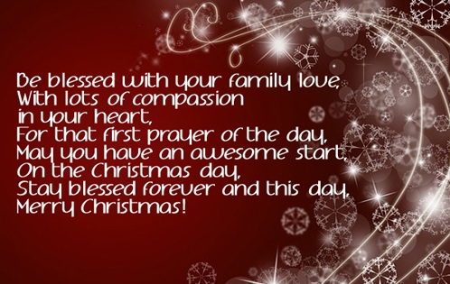 first prayer christmas wishes