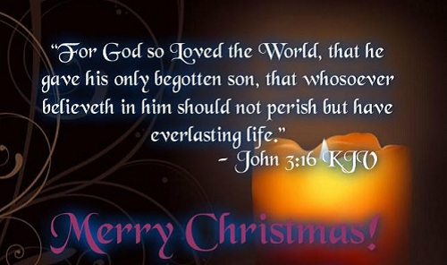 for God so loved the world christmas wishes