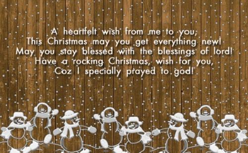 heartfelt wish christmas wishes