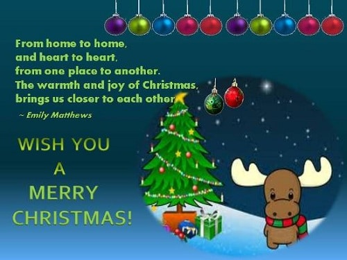home to home christmas wishes