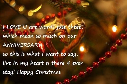 i love u christmas wishes
