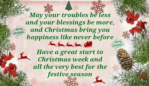 less troubles christmas wishes