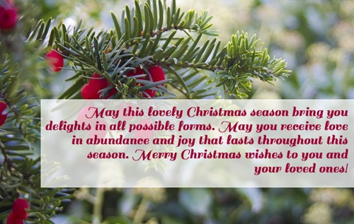 lovely christmas wishes