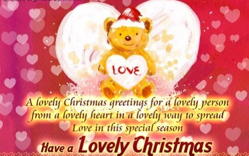 lovely heart christmas wishes