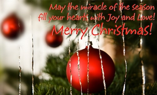 miracle of season christmas wishes