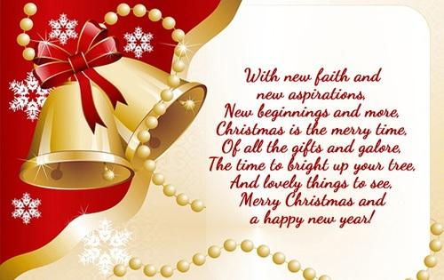 new faith christmas wishes