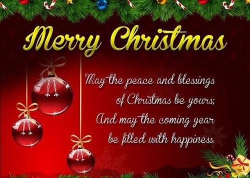 peace and blessings christmas wishes