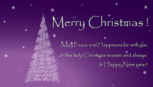 peace and happiness christmas wishes