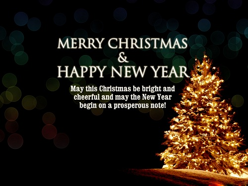 prosperous note christmas wishes
