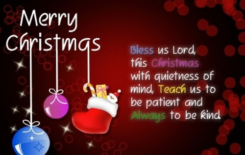 quietness of mind christmas wishes