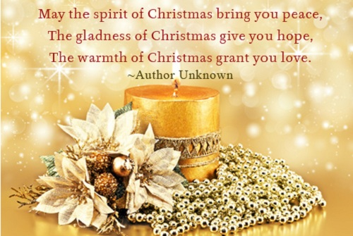 spirit of christmas wishes