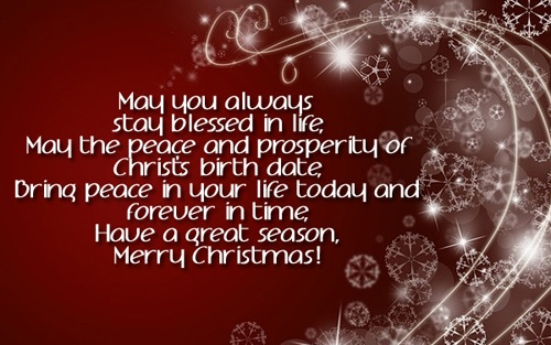 stay blessed in life christmas wishes