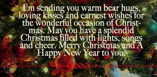 warm bear hugs christmas wishes