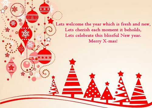 welcome the year christmas wishes