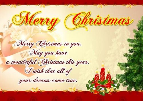 wonderful christmas wishes