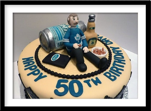 Beer 50th Birthday Cakes For Men
