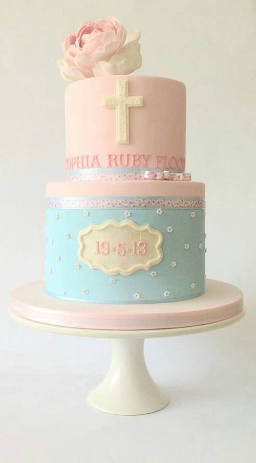 Fondant Cake For Baptism : 33 Unique Christening Cake Ideas with Images - My Happy ...