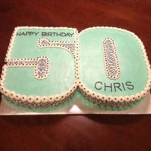 Buttercream Number 50th Birthday Cakes for Men