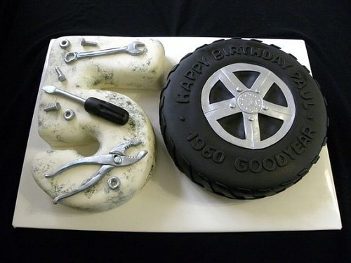 Car Mechanic 50th Birthday Cakes for Men