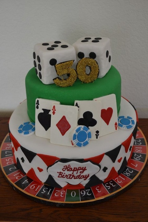Casino-Themed 50th Birthday Cakes for Men