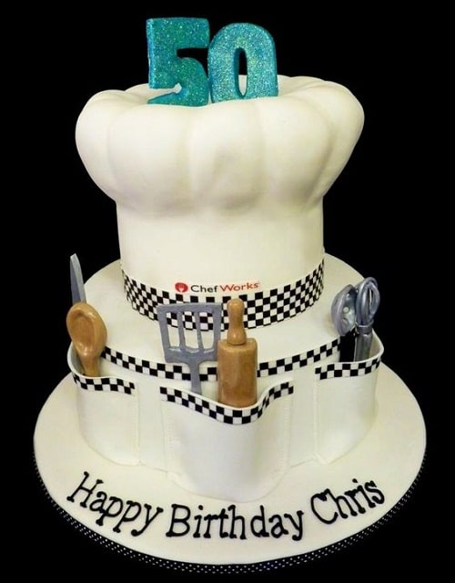 Chef 50th Birthday Cakes For Men