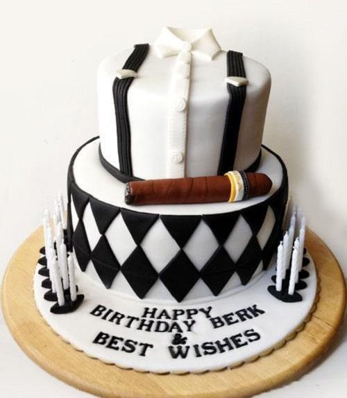Cigar 50th Birthday Cakes for Men