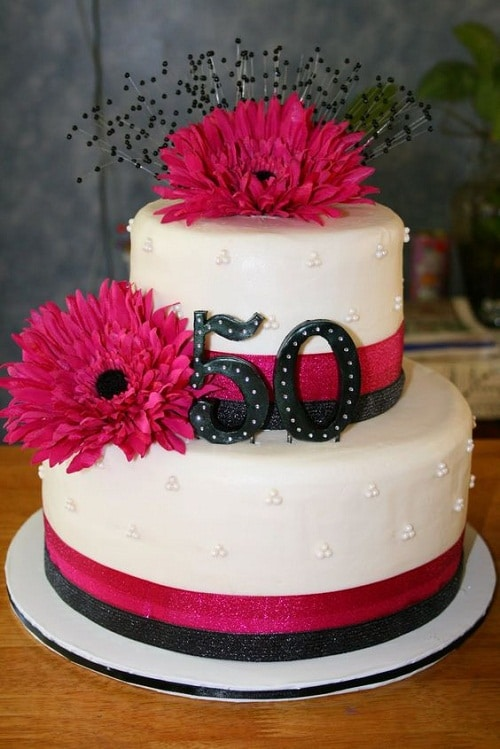 Dahlia 50th Birthday Cakes for Her