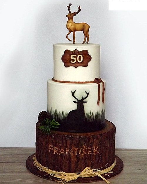 Deer Hunter 50th Birthday Cakes For Men