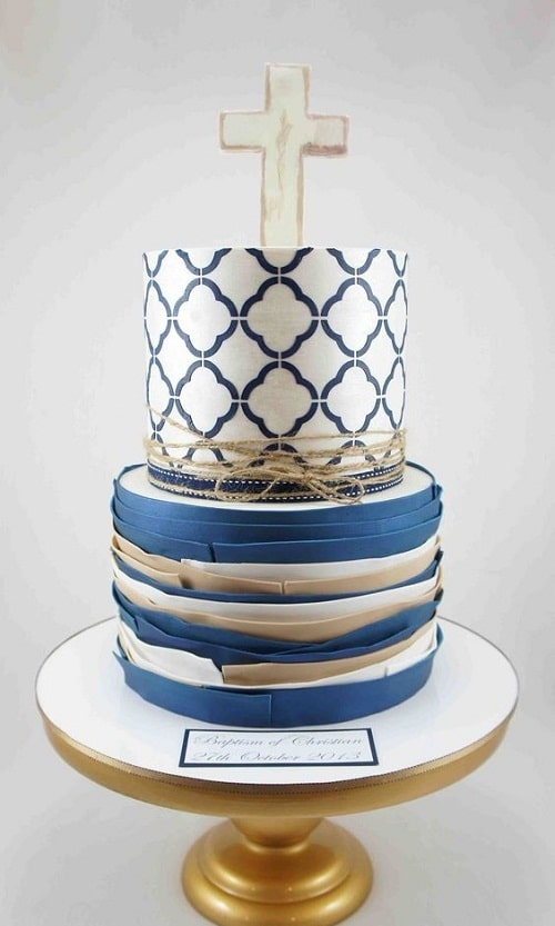 Elegant Christening Cakes for Boys