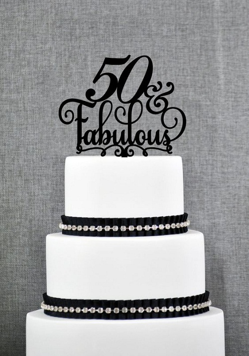 Fabulous Black And White 50th Birthday Cakes For Her