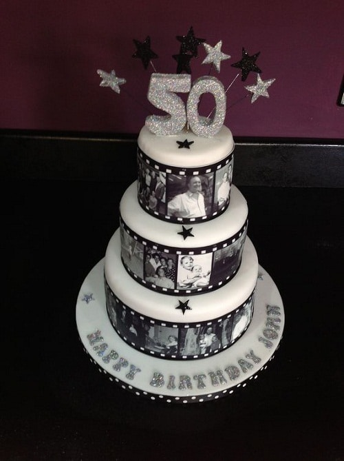Film Reel 50th Birthday Cakes For Her