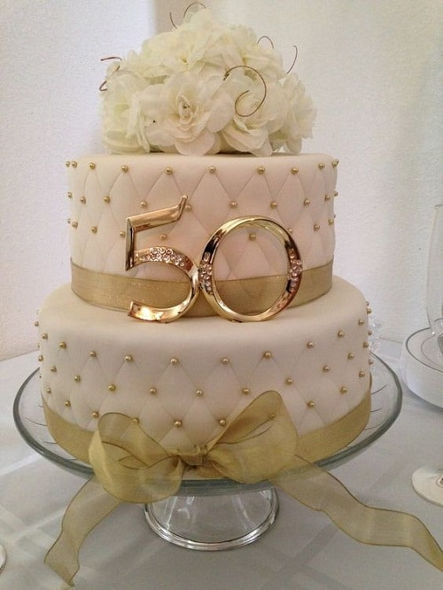 Golden 50th Birthday Cakes For Her