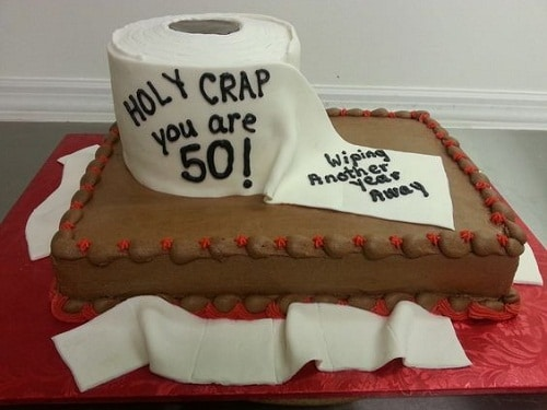 Holy Crap Tissue 50th Birthday Cakes For Men