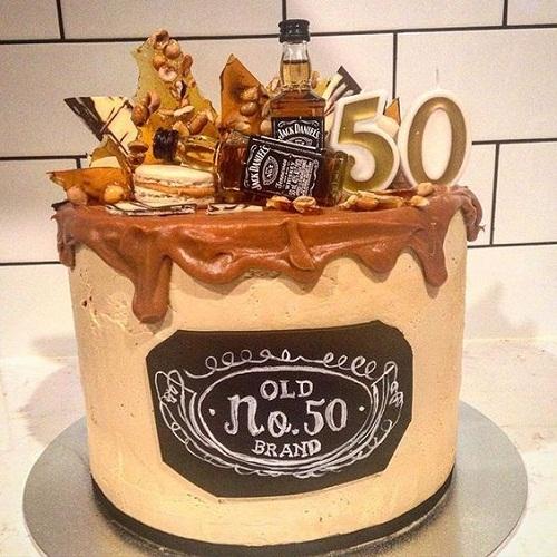 Jack Daniels 50th Birthday Cakes for Men