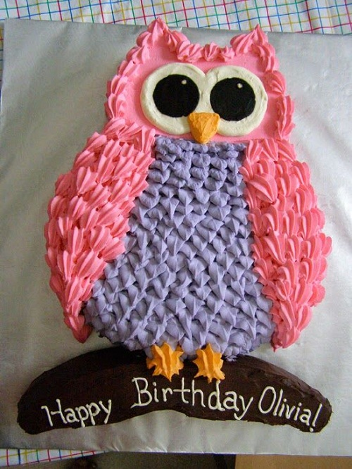 Owl Birthday Cakes for Girls