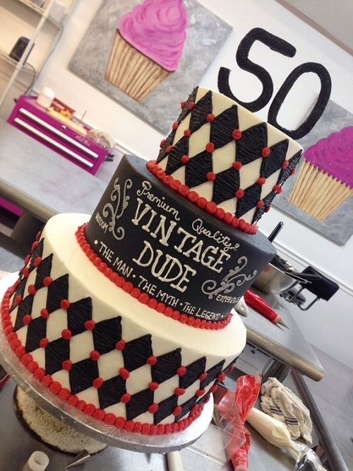 Premium Vintage 50th Birthday Cakes For Her