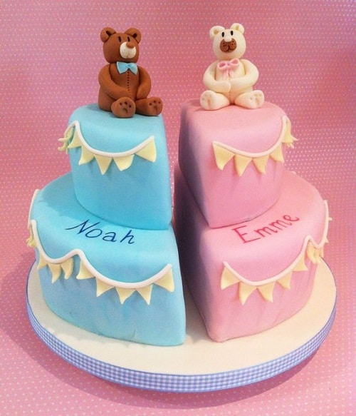 Cake Images For Twins : 33 Unique Christening Cake Ideas with Images - My Happy ...