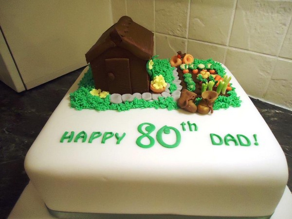 24 birthday cakes for men of different ages my happy for Gardening 80th birthday cake