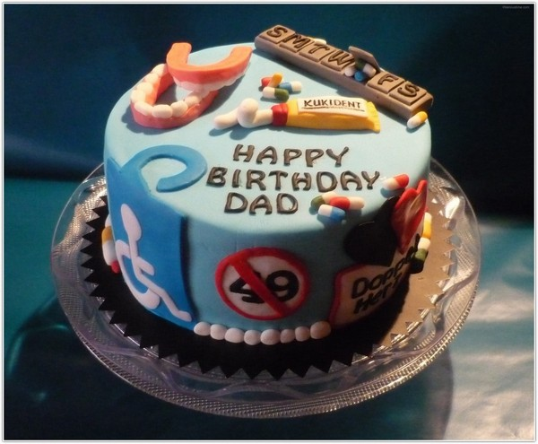 Happy Birthday Cake For Dad