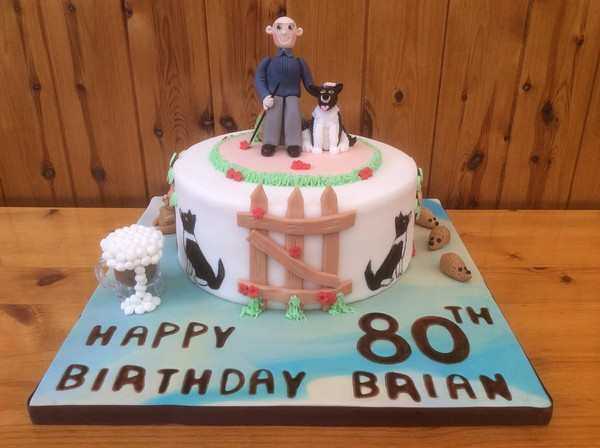 80th birthday cakes for males