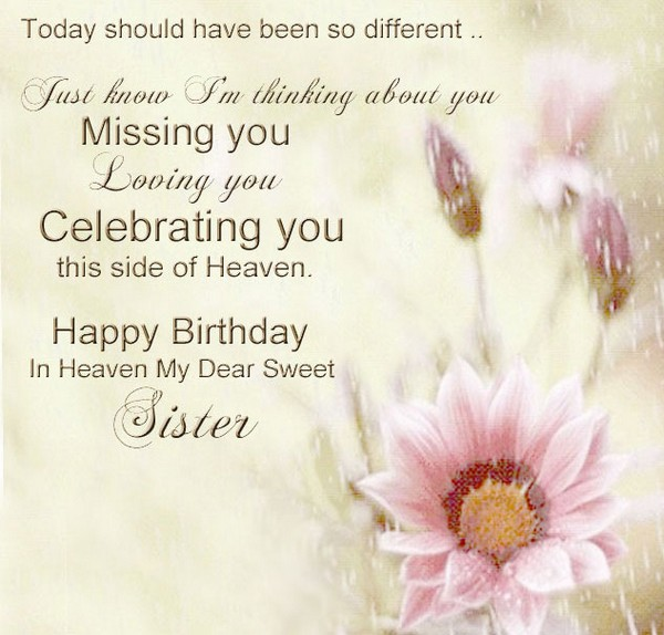 Birthday In Heaven For Sister