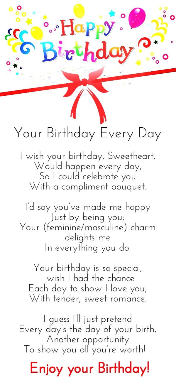 Birthday Love Poems For Her