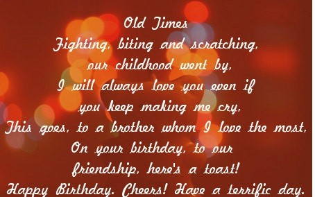 Birthday Poems For Brother
